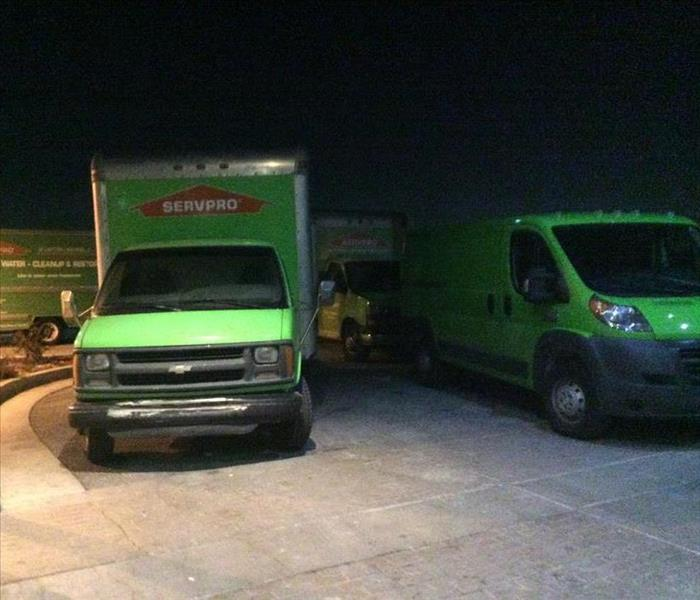 SERVPRO trucks on standby ready when the call comes in.